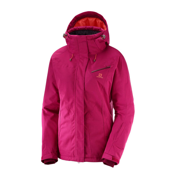 SALOMON Women's Fantasy JACKET, Cerise Heather, X-Small