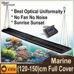 "DSunY Smart Marine Light For 48"" Aquarium Tank, No Fan Noise, Coral Reef Saltwater Lamp Programmable Timer Sunrise Dimmable"