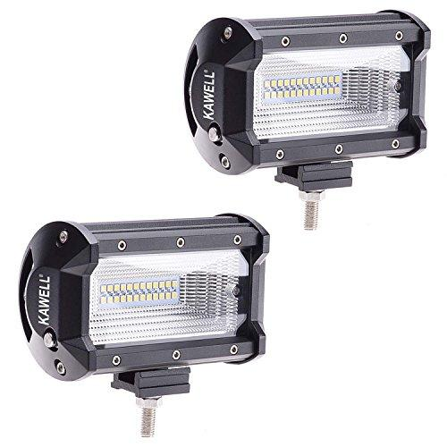 72W LED Light Bar 2PCS LED Light Pods, Off-road Driving Flood Beam Fog Light for Off-road Car/Heavy Duty/UTV/Truck/ATV/SUV