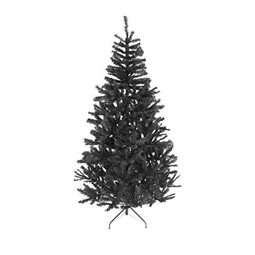 7ft black christmas tree bushy looking artificial tree with metal stand xmas home decor 210cm