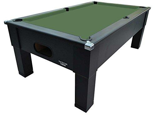 7ft Matt Black Pool Table - square leg - Slate bed - FREE UK DELIVERY & Installation (ranger green)