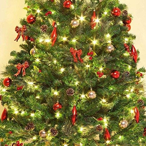 7ft pre lit decorated pop up led christmas tree - Pop Up Pre Lit And Decorated Led Christmas Tree