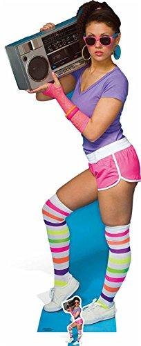 80s Neon Boom Box Girl Cardboard Cut-Out – 177 cm