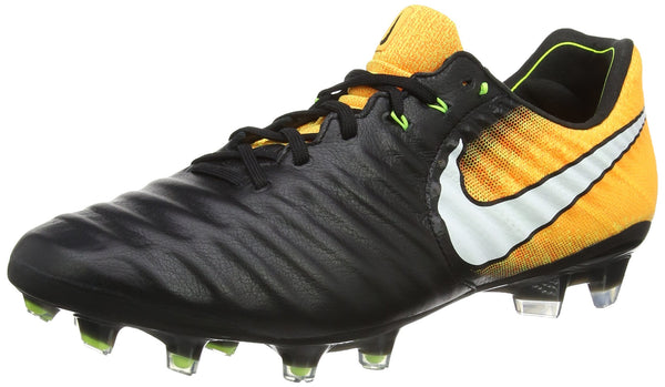 Nike Men's Tiempo Legend VII FG Football Boots, Black (Black/White-Laser Orange-Volt-Black), 8 UK 42.5 EU