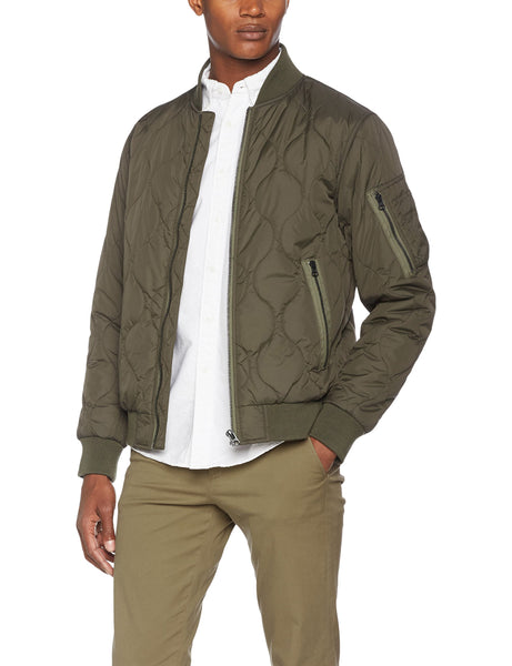 French Connection Men's Ma1 Onion Quilted Jacket, Green (Black Olive), X-Large