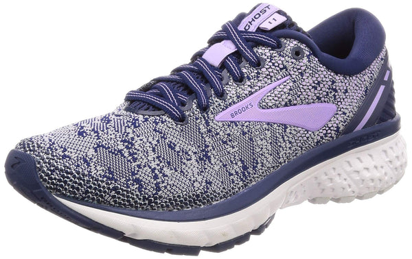Brooks Womens Ghost 11 Mesh Navy Grey Purple Rose Trainers 6 UK