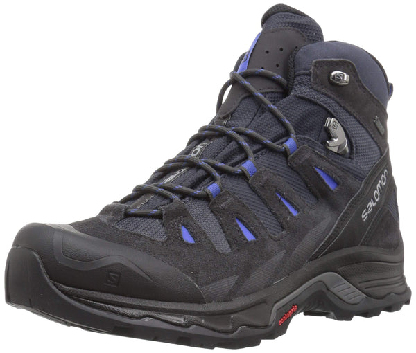 SALOMON Women's Quest Prime GTX W High Rise Hiking Boots, Grey (India Ink/Phantom/Amparo Blue 000), 7.5 UK