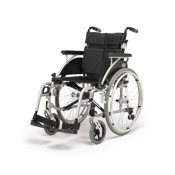 Days Link Self Propelled Wheelchair, 43 cm (17 in.), Lightweight, User-Friendly, Durable, & Height Adjustable Transfer Chair, Elevating Leg Rests, Wheel Positioning (Eligible for VAT relief in the UK)