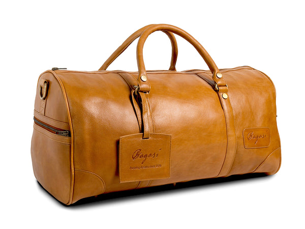 Bagasi WEEKEND LEATHER DUFFEL BAG For Travel, Holiday, Getaway - Classic Design Tote, Premium Quality - Stylish and Elegant - Stand Out from the Crowd LARGE