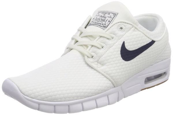 Nike Men's Sb Stefan Janoski Max Skateboarding Shoes, White (Summit White/Thunder Blue-Gum Medium Brown 103), 7.5 UK