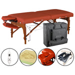 Master Massage 70cm Wide Santana Heating Top Portable Massage Table W/Carry Bag, Capacity: 300KG, Warming Therma-Top Temperature Setting System Massage Couch Spa Beauty Bed Tattoo Table