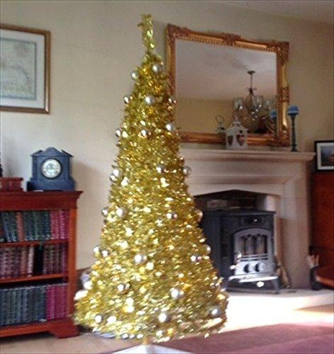8ft pop up christmas tree pre lit 250 warm white led light