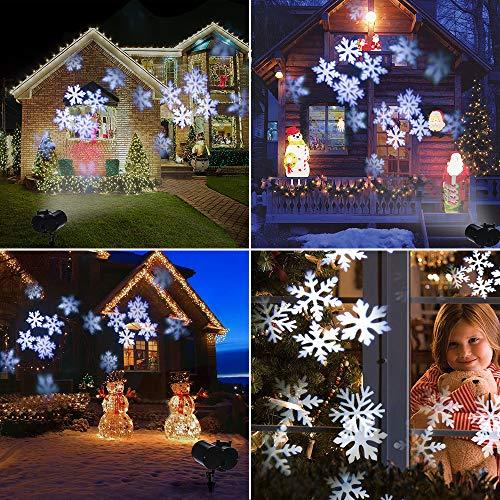Christmas Projector.8w Christmas Projector Lights Greenclick Led Xmas Projector Lights Double Head Snowflake Lights Projector With 8 Led Waterproof Spotlight Projector