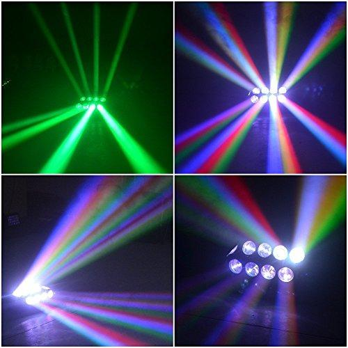 8x10 W DMX512 RGBW Moving Head Light Rotating LED Stage Effect Disco Colour