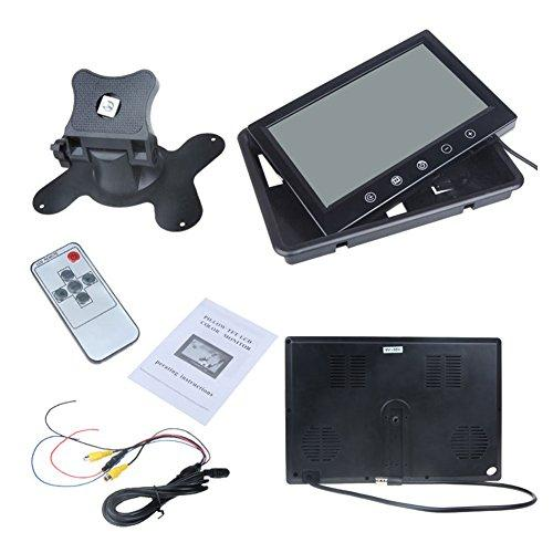 9 Inch TFT LCD Color Monitor Car Rearview With High Resolution Touchscreen Buttons IR