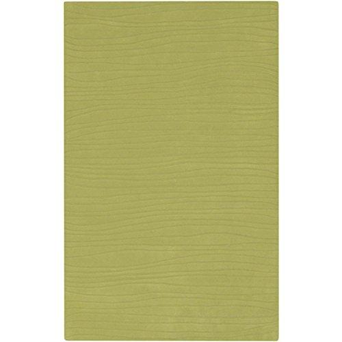 9' x 13' Monrovia Contour Fern Green Wool Rectangular Area Throw Rug