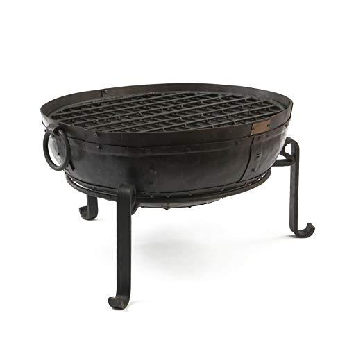 90cm Recycled Fire Pit/Bowl with Low Stand and Grill