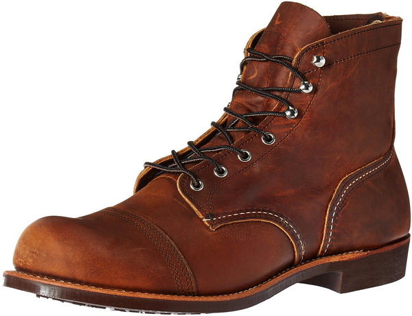 Red Wing Mens Iron Ranger 8085 Copper Leather Boots 8.5 UK