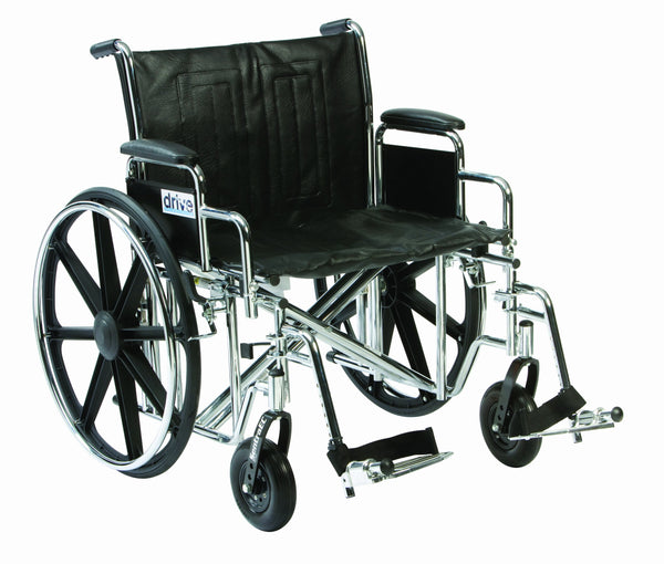 "Drive DeVilbiss Healthcare Sentra EC Bariatric / Heavy Duty Chrome Self-Propelled Wheelchair (20"" Seat Width)"