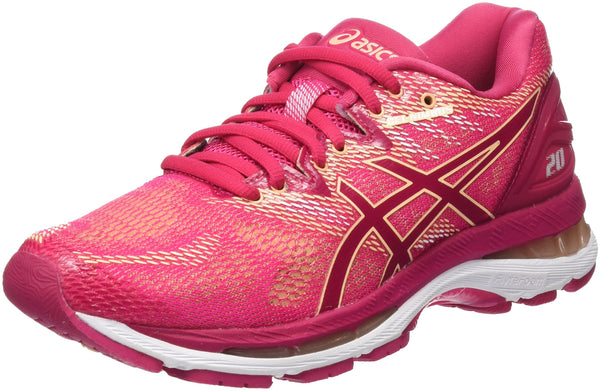 ASICS Women's Gel-Nimbus 20 Running Shoes, Pink (Bright Rose/Bright Rose/Apricot Ice 2121), 4.5 UK 37.5 EU