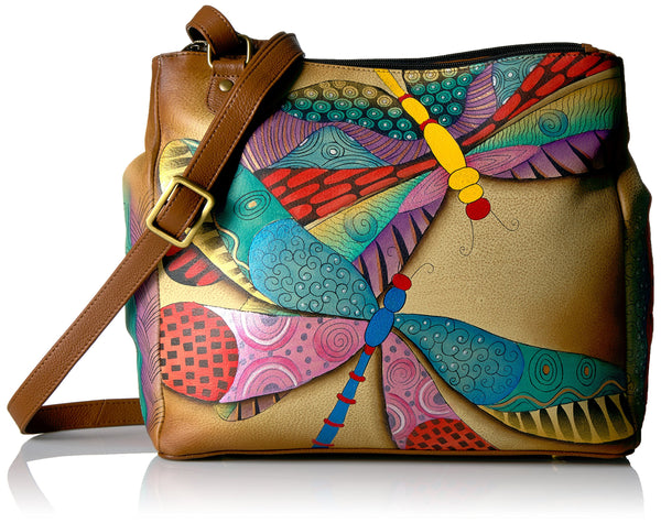 Anuschka Hand Painted Leather Multicompartment Organiser Tote