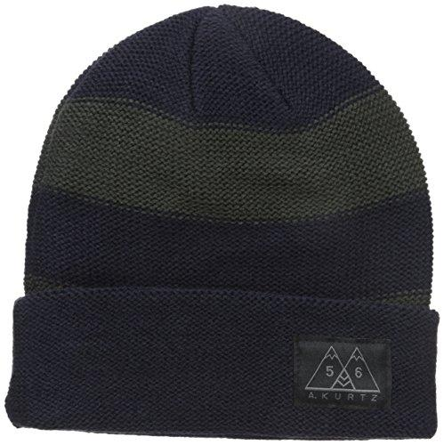 A. Kurtz Men's Tic Stripe Watchcap, Navy, One Size