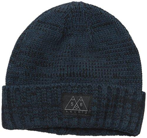 A. Kurtz Men's Two Tone Short Watchcap, Navy, One Size