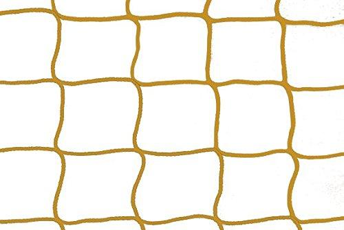 A Pair of Hockey Goal Net 1.85 m x 1.22 m – # 2.5 cm Cord 2.5 mm Assorted Colours, yellow, 1,85m x 1,22m