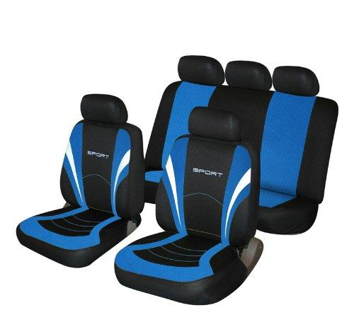 A4 Blue and Black Sports Style Car seatcovers