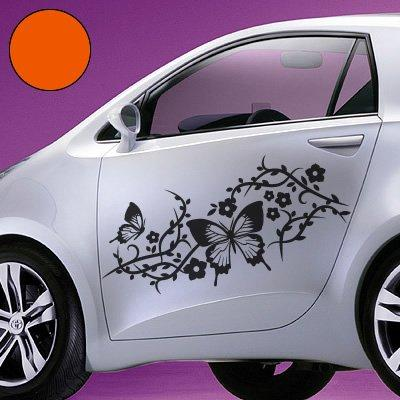 A709 Car Sticker Set of 2 Butterfly Cupboard Element 30 cm x 13 cm (49/7 Size)