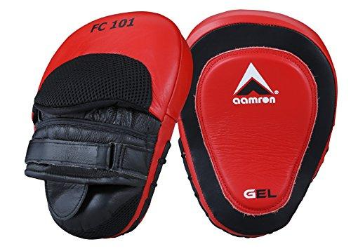 Aamron® Leather Focus Pads Hook /& Jab MMA Boxing Kick Curved Mitt Glove FPC-101