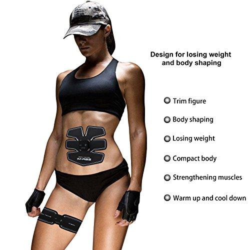 ... Abdominal Muscle Toner AB Trainer Toning Belts, Smart Fitness Muscle  Strength Training For Abdomen/ ...