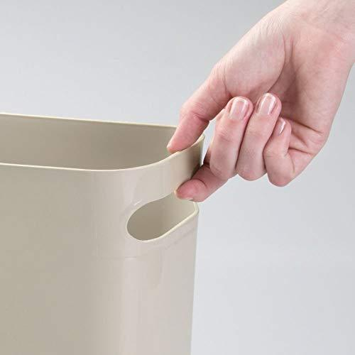 ABILLO Skinny Trash Can – Sleek & Stylish Bathroom Trash Can, Small Garbage Can Wastebasket for Narrow Spaces at Home or Office, 2 Gallon Capacity, (Linen)