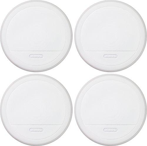 ABUS RM20 346620 Smoke Alarm 4-Piece Set Including Lithium Batteries