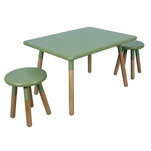 Ace Casual Kids Dipped Table & Stool Set, Olive, One Size