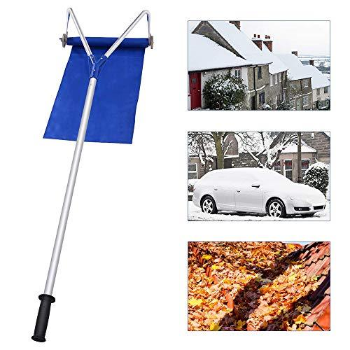 Addison Roof Snow Rake, Snow Shovel, 20 Ft with Adjustable Telescoping, Rooftop Handle Removal Tool, Prevent Any Damage from Happening to Your Roof, Roof Rake for Snow Removal Garden, Metal Oxford