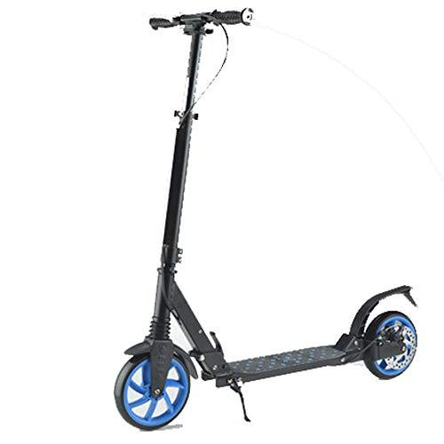 Adult City Push Kick Scooter Dual Front and Rear Spring Comfort Suspension, Kick Stand, Easy to Carry Light Weight Aluminium Kickboard