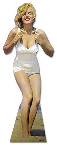 Advanced Graphics Marilyn Monroe White Swimsuit Lifesize Wall Decor Cardboard Standup Cutout Standee Poster