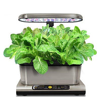 AeroGarden Miracle-Gro Harvest Elite with Gourmet Herb Seed Pod Kit, Stainless Steel