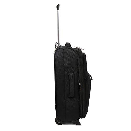 1442e9e82 ... Aerolite 55x40x20cm 42L 2 Wheel Lightweight Ryanair Maximum Size Carry  On Hand Cabin Luggage Suitcase, ...