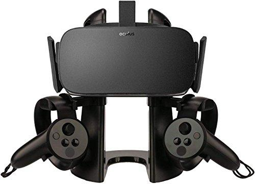AFAITH VR Headset Display Stand with Game Controller Holder for Oculus Rift Headset-Black