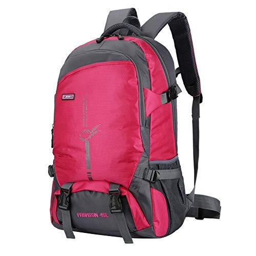 AFFEco Outdoor Climbing Backpacks Wear-resisting Travel Hiking Knapsack (Rose Red)