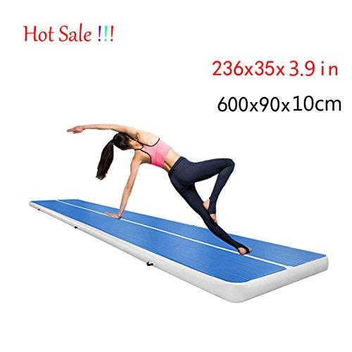 AFUT Gymnastics Tumbling Mat, Inflatable Air Floor Mat for Gym Training, Home Use, Picnic, Exercise, Cheerleading, on Water (600x90x10cm)