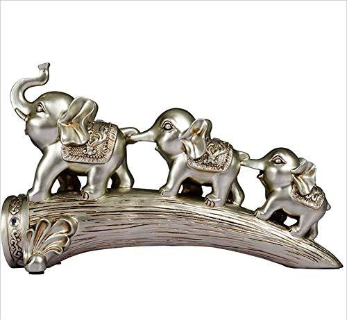 AGGL Crafts Creative Elephant Decorations European Vintage Home Decoration Gifts Suitable For Living Room/TV Stand/Wine Cabinet/Showcase