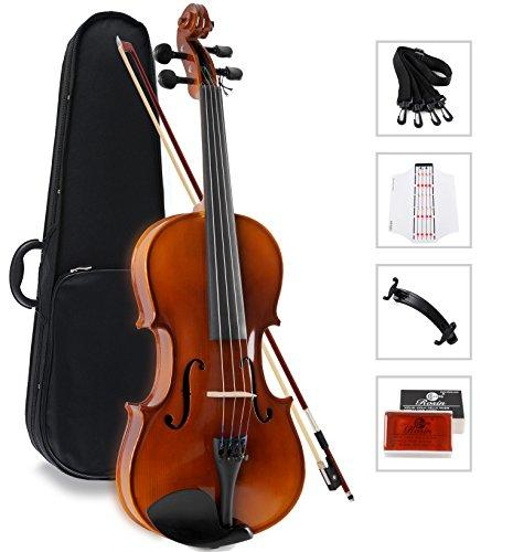 Aileen Solidwood Ebony Violin Outfit with Case, Rosin, Strings, Shoulder Rest, Fingerboard Sticker (1/4)