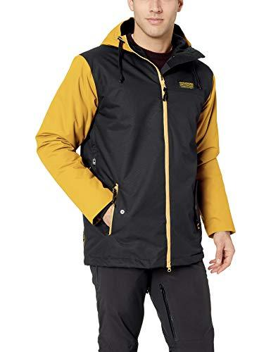 AIRBLASTER Men's Insulated Outerwear Toaster Jacket, Black Gold, X-Small