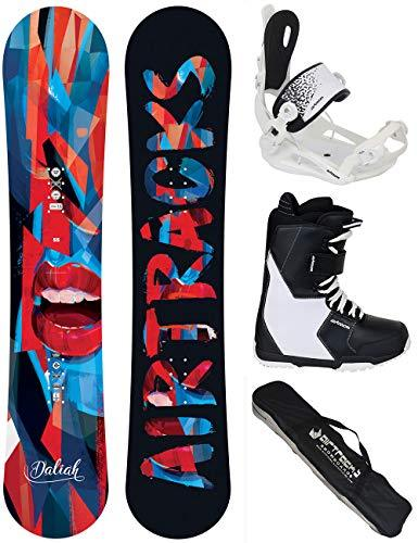 AIRTRACKS LADIES SNOWBOARD SET - BOARD DALIAH 140 - SOFTBINDING MASTER W - SOFTBOOTS SAVAGE W 42 - SB BAG
