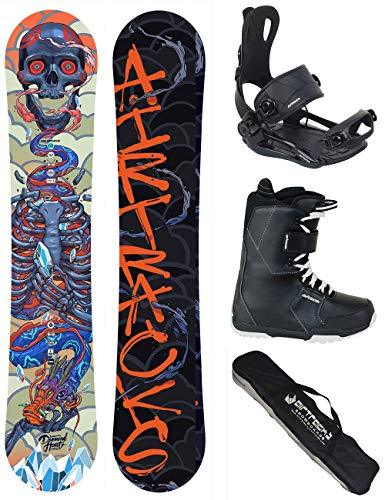 AIRTRACKS SNOWBOARD SET - BOARD DIAMOND HEART ROCKER 150 - SOFTBINDING MASTER - SOFTBOOTS SAVAGE BLACK 45 - SB BAG