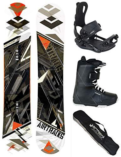 AIRTRACKS SNOWBOARD SET - BOARD LINE WIDE 162 - SOFTBINDING MASTER - SOFTBOOTS SAVAGE BLACK 47 - SB BAG