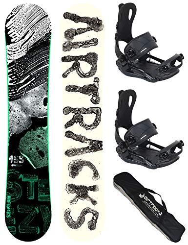 AIRTRACKS SNOWBOARD SET - BOARD STEEZY WIDE 155 - SOFTBINDING MASTER M - SB BAG